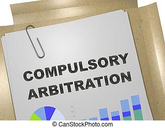 arbitraje, concepto, compulsory