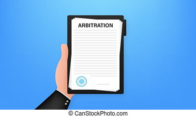 Arbitration agreement. Legal resolution conflict. stock illustration