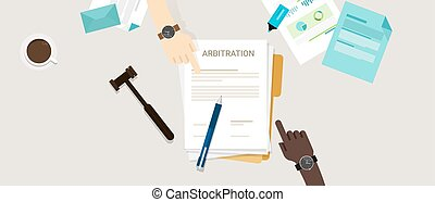 arbitration law dispute legal resolution conflict