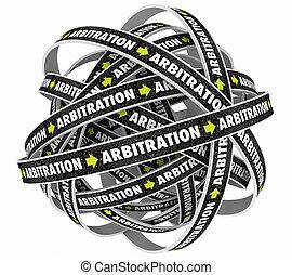 arbitrato, trappola, infinito, ciclo, illustrazione, cappio, processo, 3d