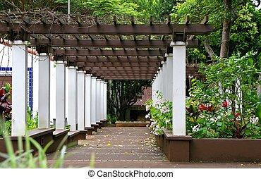 Arbor in Kepaniwai Park and Heritage Gardens