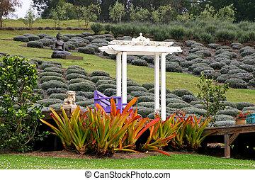 Arbor - Beautiful Gardens Alii Kula Lavender Farm Maui...