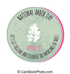 Arbor Day icon. Vector illustration for promotion.