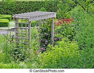 Arbor in a Summer garden