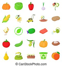 Arboriculture icons set. Cartoon set of 25 arboriculture icons for web isolated on white background