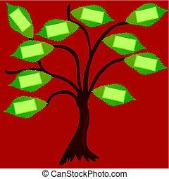 arbre, à, étiquettes