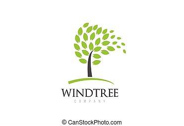 arbre, éléments conception, business, compagnie, gabarit, logo, icône, pousse feuilles