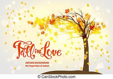 arbre, érable, automne