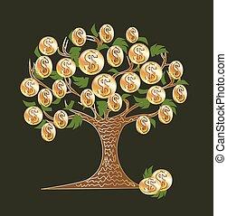 arbre argent