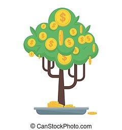 arbre argent, icône
