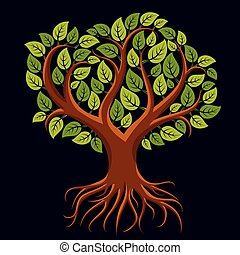 arbre, art, illustration, vecteur, branchy