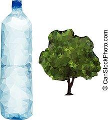 arbre, bouteille