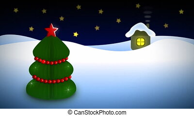 arbre, christmass, boucle