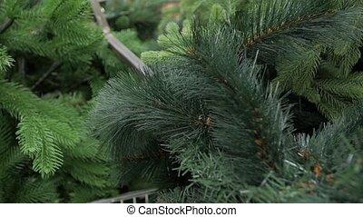 arbre, closeup, noël, artificiel