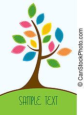 arbre, coloré