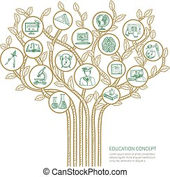 arbre, concept, education