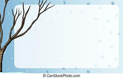 arbre, conception, frontière, branche