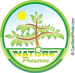 arbre, conservation, emblème, nature