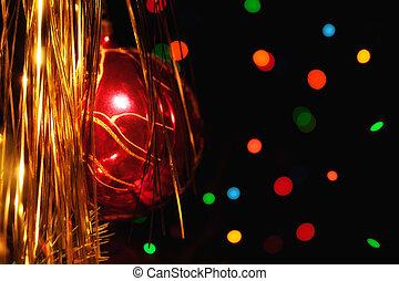 arbre, décorations noël