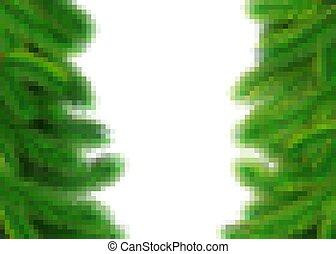 arbre, decor., vacances, vert, année, élément, broussailleux...