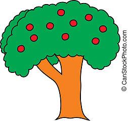 arbre, dessin animé