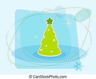 arbre., dessin animé, noël