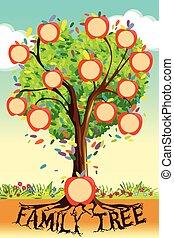 arbre, famille, gabarit