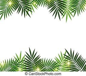 arbre, feuilles, paume