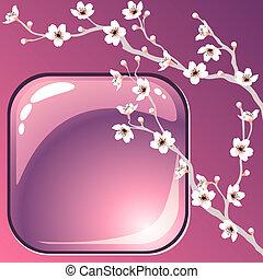 arbre fleurissant, fond