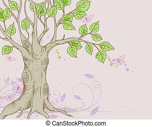 arbre, fond