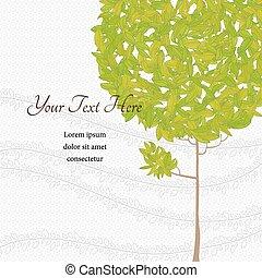 arbre, greenleaves, vent
