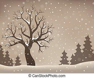 arbre hiver, topic, image, 2