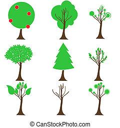 arbre, icônes