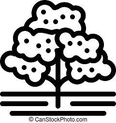 arbre, illustration, icône, café, contour, vecteur
