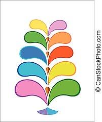 arbre, infographic, conception, coloré