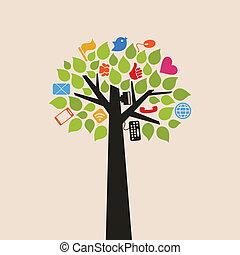 arbre, internet