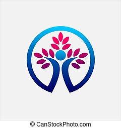 arbre, logo, vie