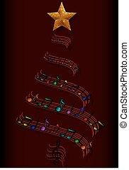 arbre, musical, noël