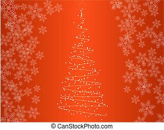 arbre noël, à, flocons neige