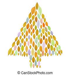 arbre noël, à, transparent, feuille