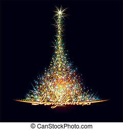 arbre, noël, étoiles