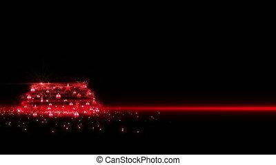 arbre, noël, 2013, rouges