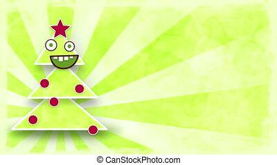 arbre, noël, boucle, danse