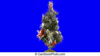 arbre noël, boucle, isolé