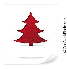 arbre, noël, carte, salutation