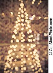 arbre noël, depuis, lumière, pour, noël
