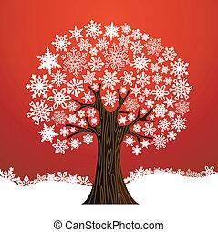 arbre, noël, fond, hiver