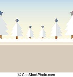arbre, noël, fond, neige