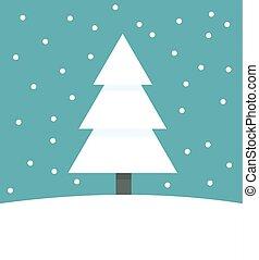 arbre, noël, hiver
