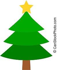 arbre, noël, icône